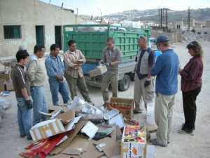 Shawn and Philip lead the recycling class