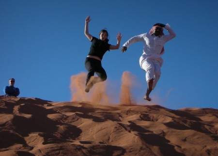 "My best photograph of the day - captures the essence of that elusive ""Dune Leap"""