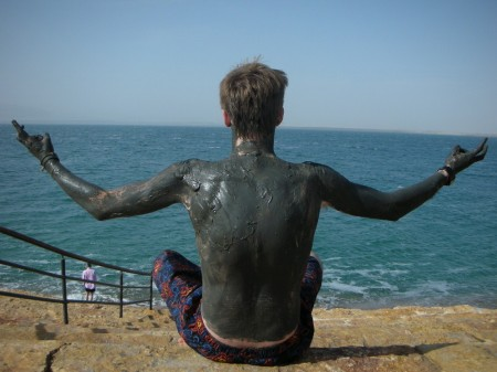 Zen with the Dead Sea. Either that, or I'm stuck in this position and I can't get out!