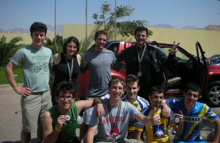 DRed Shaheen and 4/5ths of the United Nations together at the end of the race