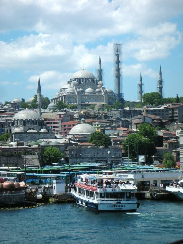 In Istanbul, they know how to make their mosques: icicle minarets, domes galore, stack 'em high