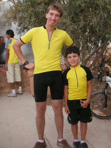 Roola's son Omar, who coincidentally happened to be dressed very similarly!