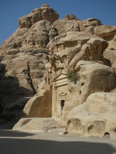 The first monument is like a sentinel for the rest of the site, hidden inside a miniature siq trench