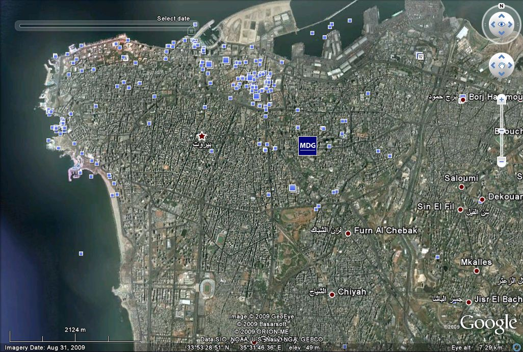 Google earth 4x more satellite photos taken of middle east cities beirut gearth gumiabroncs Choice Image