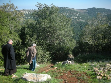 Messrs. Abu Ali and Abu Haitham amble along through their beautiful countryside