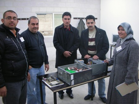 At the end of the first class; comparing the insides of a computer from 2002 versus one from 2009
