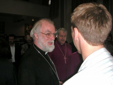 Archbishop Williams stopped to have a little chat with me...