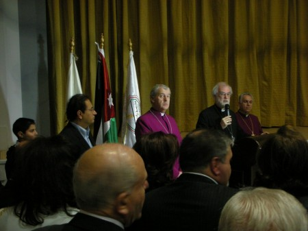 From left to right: the Mayor of Amman, the Bishop of Ireland, and Archbishop Williams