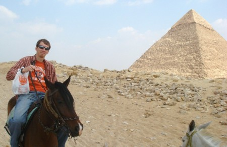 Khafre's Pyramid and and the Unknowing Galloper