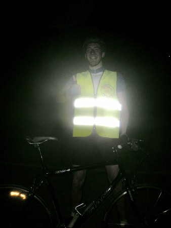 Those reflective vests definitely did their job...but made it much harder for cameras with flash!