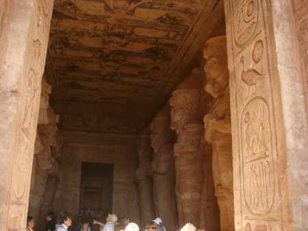 Leaning in over the doorjamb and taking pictures of the inner room is as good as photography gets in Egypt