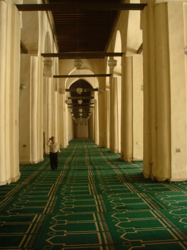 Mahmoud proudly told me that his mosque had held as many as 4,000 worshippers during the Ramadan season, and looking down its huge carpeted expanse, I could believe it