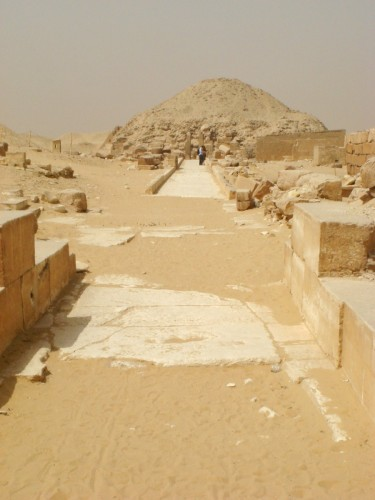 Causeway and Pyramid of Unas: Folks, this is what happens if you don't cover your eternal resting place in some sort of stone shell: it turns into a sandcastle.