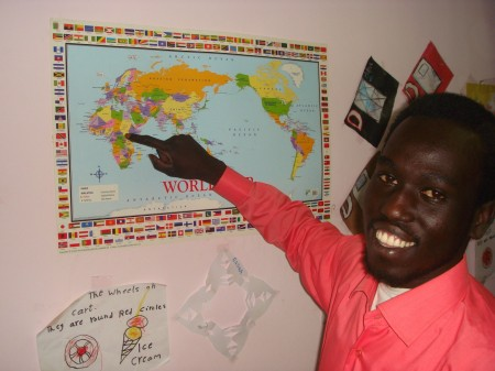 Tony points to the city of Juba, South Sudan - what is hoped to be the future capitol of the new Christian nation