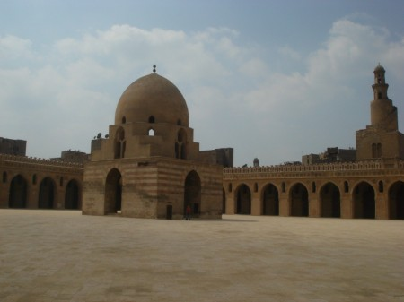 We stopped briefly at the Mosque of Ibn Tulun on our way out of Islamic Cairo - the oldest still-working mosque in the city from 876 AD
