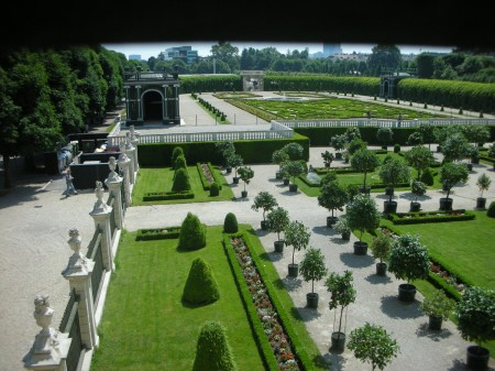 A look over the 'Privy Gardens' that I hastily snapped from the window before the Gendarmes carried me and my camera away