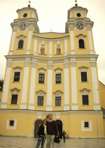 Hala and I at the famous Mondsee Church