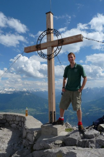 One of Dani's pictures from the top of Hafelkar, an easily-accessible mountain overlooking Innsbruck