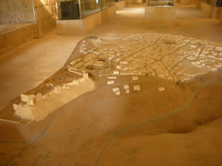 This 2x2 meter model of Karak and its high-ground castle are prominently featured in the small museum