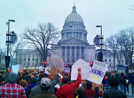 "One of my favorite signs: ""Walker is a Vikings fan"" Yeah Walker, you heard what the sign said!"