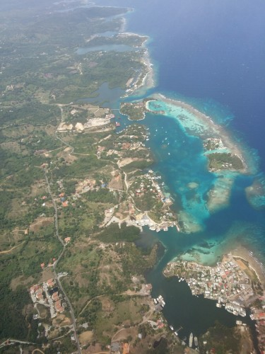 Last shot of the island I got by plane. This is right above Coxen Hole, looking east.