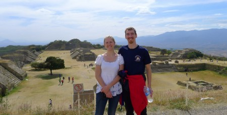 Monte Alban, North main platform: Here's squinting at you, kid