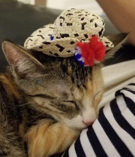 Riba with her Sombrero